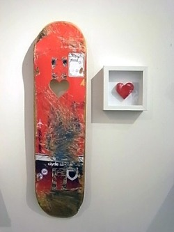 Skate heart by Unknown More awesome skate art on TheDailyBoard.tumblr.com