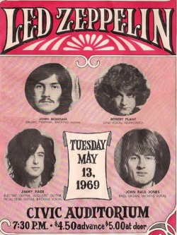 coexist-ng:  fancydancynancy:    Led Zeppelin Poster, 1969   ❤ Vintage Wonderland ❤  i wish