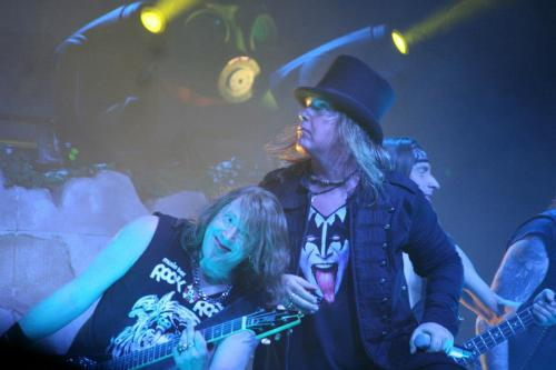 solemnhour:  I can't with you two.  Helloween and Gamma Ray live in Budapest, 2013.