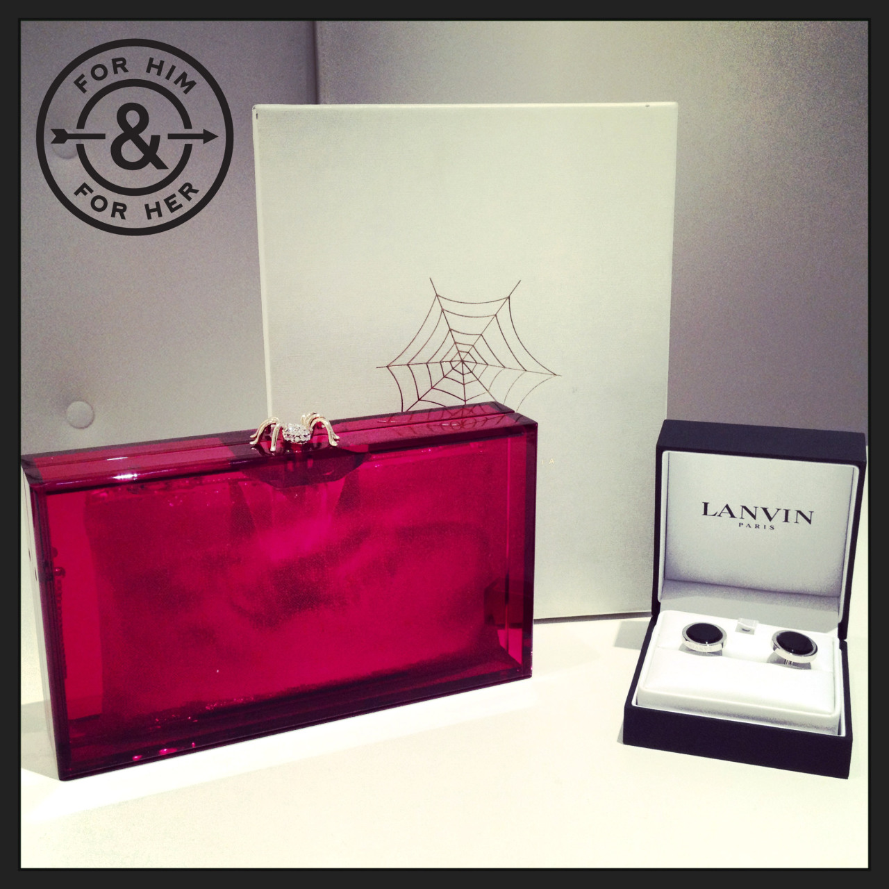 Valentine's Day | For Him & For HerFor Him - Lanvin Silver-Plated Onyx CufflinksShop at MR PORTER > http://mr-p.co/mtYBn3For Her - Charlotte Olympia Perspex ClutchShop at NET-A-PORTER > http://bit.ly/14HOIBLThere's still time - make use of our special delivery services to ensure you don't miss out this Valentine's Day