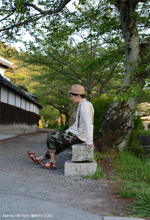 Loftman: Camo, Hat, Linen, Suspenders and Sandals (http://www.loftman.co.jp/201304eg/styles.html)