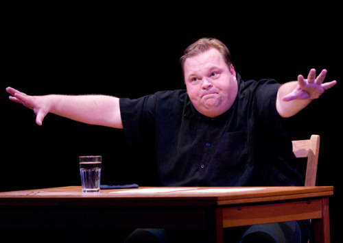 (via Mike Daisey Wants To Buy The Guy Who Threw The Cell Phone A Drink: Gothamist)  After the Apple play I don't know how I feel about Daisey, but I definitely approve of policing the audience.