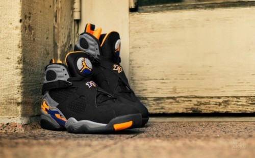 Air Jordan 8 : Black/Bright Citrus-Cool Grey-Deep Royal
