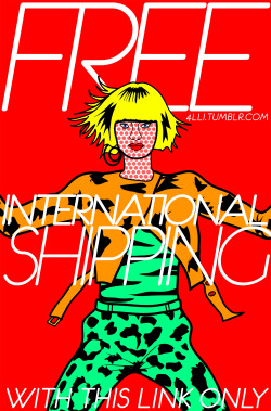 Free International Shipping on all designs by Alli Vanes on Society6 with this link. Offer ends March 17, 2013 at Midnight Pacific Time!