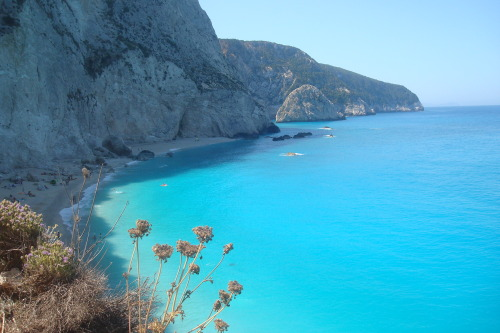 nomoneyinmycoat:  Porto Katsiki beach, Lefkada, Greece