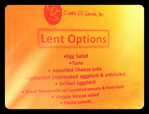 It's #Good #Friday! Plenty of meatless options @contesubs try also our house salads w/ veggies.
