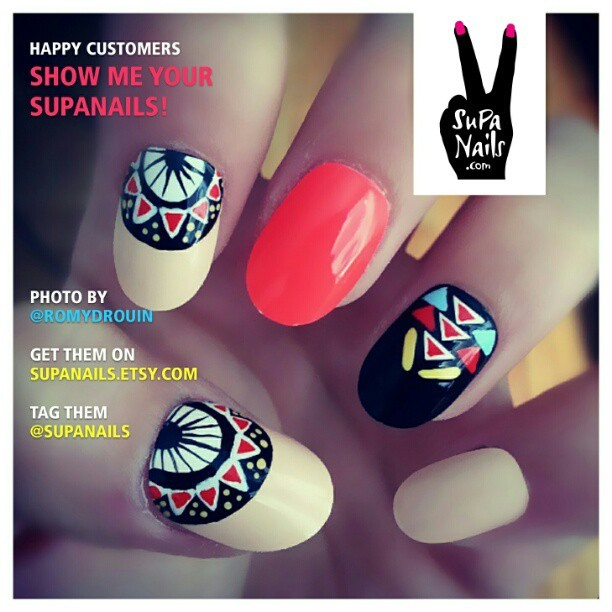 Happy Customers @romydrouin is showing of her Supa Nails. Thanks for the picture Romy!