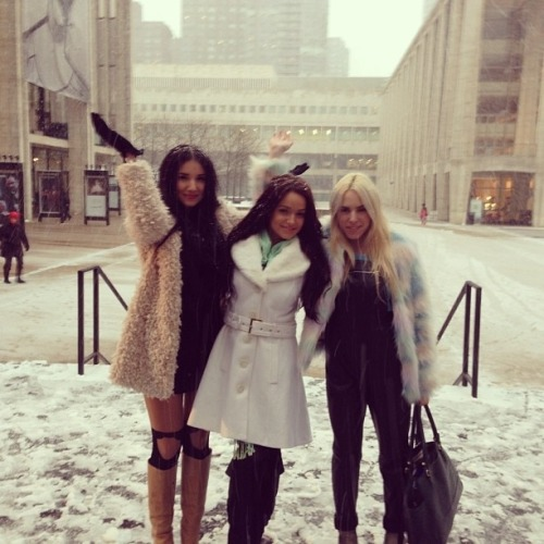 Wow, Fashion Week models get cold in blizzards just like real people!