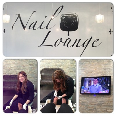 Here at @NailLounge it's the perfect day for a pedicure! Stop by and see any one of our fabulous #nailtechs and #pamper the rain away (if only for a little bit lol) Magalys is hooking me up right now!! #relax #NailLounge #NY #HerNailsRock #teamwork #mani #pedi #nails #NY #WhoRockedYa #instacollage