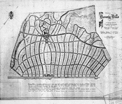 Plan for Beverly Hills, CA, c. 1930 Cartography of exclusion, mapping of repression, parcelization of racism.