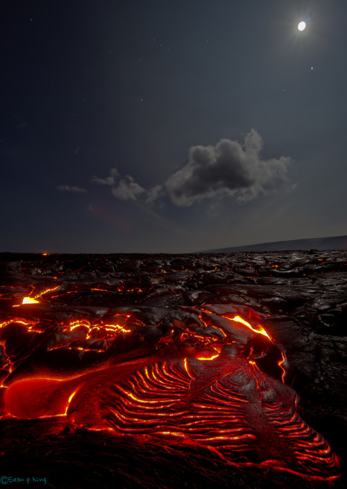 worl-d:  the lava fields of Kilauea (by seanpking)