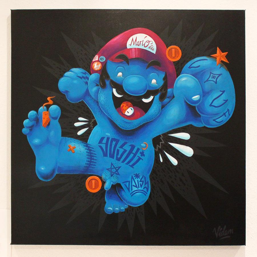 gamefreaksnz:  The Plumber Acrylic on canvas, 1x1m Painting for this exhibition:http://welove8bit.blogspot.de/