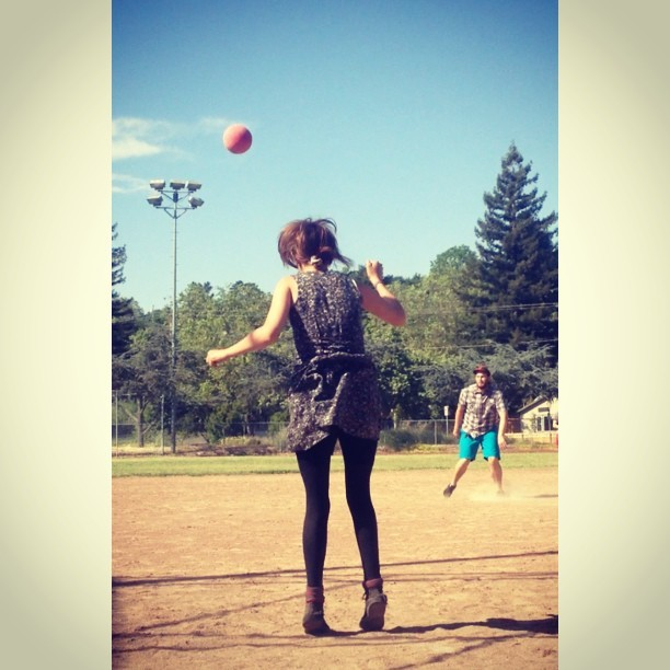 A picture of me ruling at Kickball the other day by Matthew James