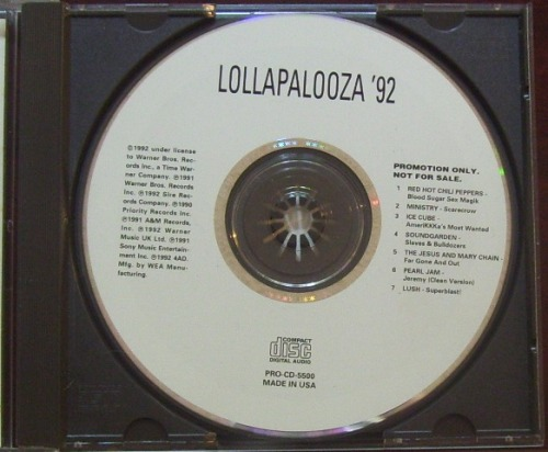 Lollapalooza 1992 promo CD