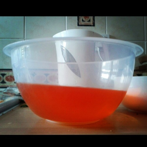 So this is what happens when you make jelly in a house that's falling into the road =/