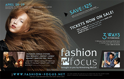We'll be at the Galveston Fashion Focus show on April 28 & 29, 2013. Stop by Crown Brush booth #923 with your Crown PRO Card!!!