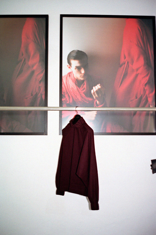 Inside Damir Doma's studio, photographed by Sarah BrückPhotos and top taken from his Spring 2010 collection