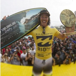feelings-waves-and-sk8:  Congratulations Jordy Smith, 1st place in billabong rio PRO!