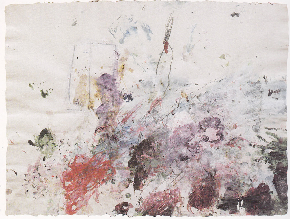 Cy Twombly, Scenes from an Ideal Marriage, 1986Acrylic and pencil on paper