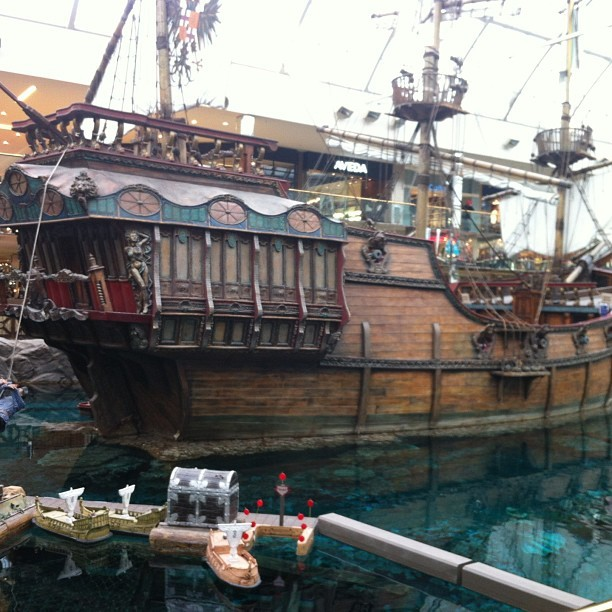 Pirates of the Caribbean in the mall (at West Edmonton Mall)