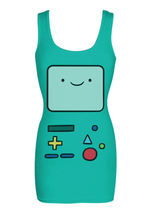 Ladies, Please C'mon, gals. You don't want to be the last in your neighborhood to sport this BMO tunic tank from Mighty Fine (and you really need to buy one before that creepy dude up on 6th Avenue does).