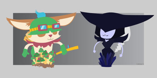 random-gaming-stuff:  Teemo & Lissandra, show them some love :D Source: Reddit