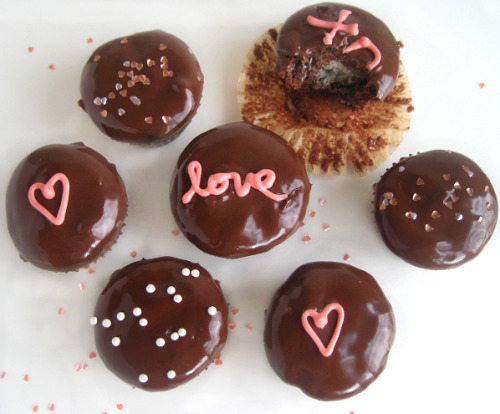 I have another recipe on the great HelloGiggles.com! These chocolate truffle brownies are filled with Valentine chocolates and topped with a rich ganache. And they're super easy to make, too! Perfect for the procrastinator. Get the recipe here.