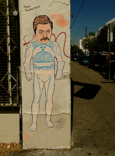 tomhanksy:  Tron Swanson. Hollywood, CA.
