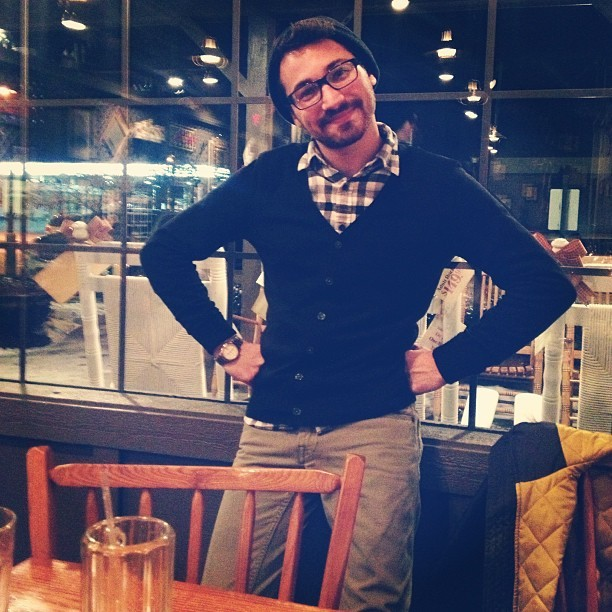 Cracker Barrel sass. Cardigan compliment. @theophiluslee  (at Cracker Barrel)