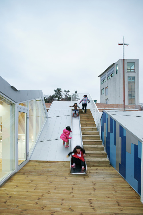 dezeen:  Gangjin Children's Centre by JYA-RCHITECTS Photography by Hwang Hyochel