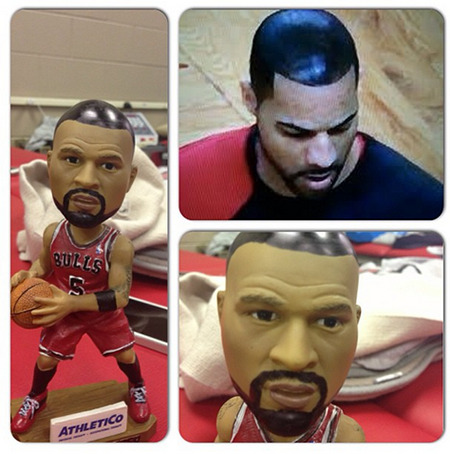Pic: Nate Robinson recreates Carlos Boozer sharpie hair.