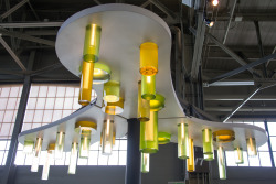 The Exploratorium's new Algae Chandelier created by exhibit developer Denise King. #getsbetterwithage!Photo by Gayle Laird© Exploratorium, www.exploratorium.edu