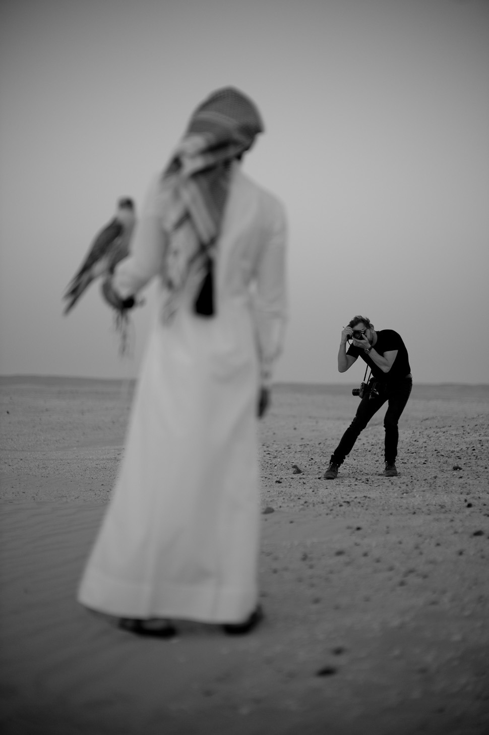Thorsten Overgaard by Khalid Bin Hamad AL-Thani in the desert of Qatar. © 2013 Khalid Bin Hamad AL-Thani. All rights reserved. Leica M9 Hermes with Leica 50mm Noctilux-M ASPH f/0.95To read more, touch the image …