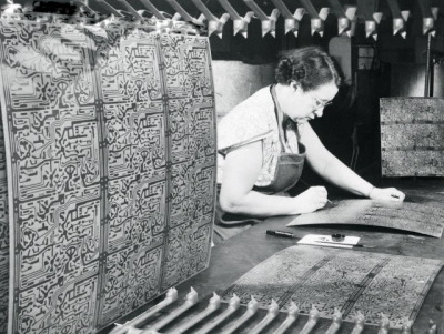 Building circuit boards at the Admiral Television Company, 1954, Chicago.
