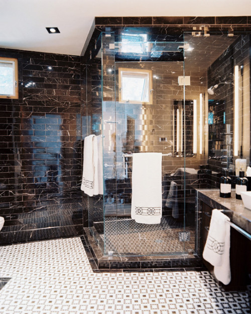 dustjacketattic:  black marble | interior by jamie herzlinger | photo patrick cline