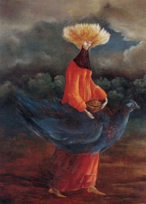 portrait of the late mrs. partridge, leonora carrington