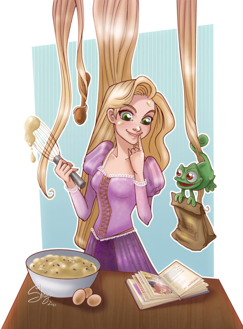 Cooking Rapunzel +Art Trade+ by *77Shaya77