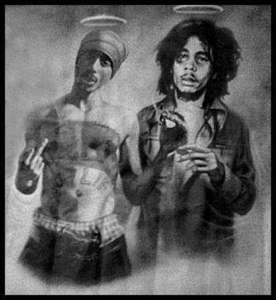 savage-beauty406:  our angels <3 RIP TUPAC & BOB MARLEY