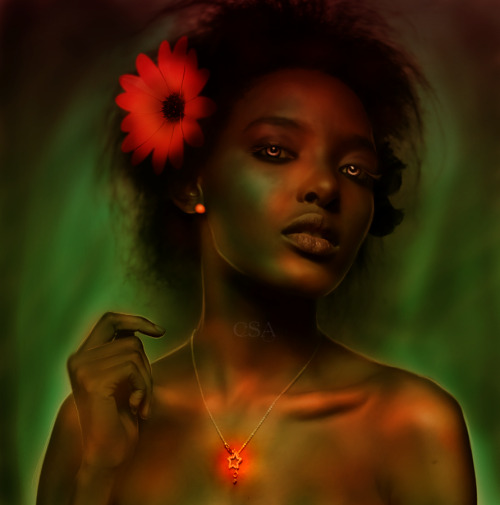 fantasyofcolor:  African Fire by =ChisSweetArt