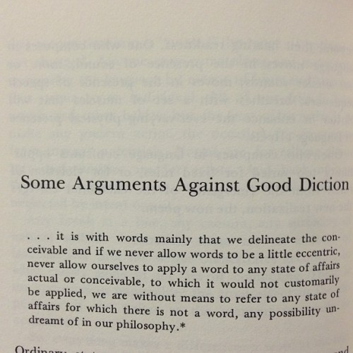 Some arguments against good diction.