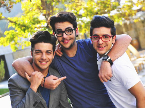 Il Volo's photo shoot with Terra in Chile [x]