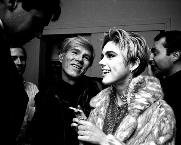 Andy Warhol and Edie Sedgwick.