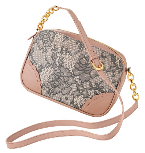 "FOREVER selected by Paula Abdul Lacy Affair Crossbody  Click to visit my AVON/mark store!  Lace over satin with leatherlike trim. Top-zip close. Front-and-back snap-close pockets. Fully lined with one zip and two slip pockets. 9"" W x 6"" H. Adjustable strap, 24"" L."