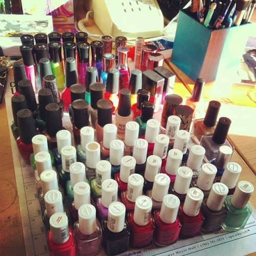 I have a slight obsession with nail polish #collection #nailpolish #essie #opi #allmine (at Third Hill!!!)