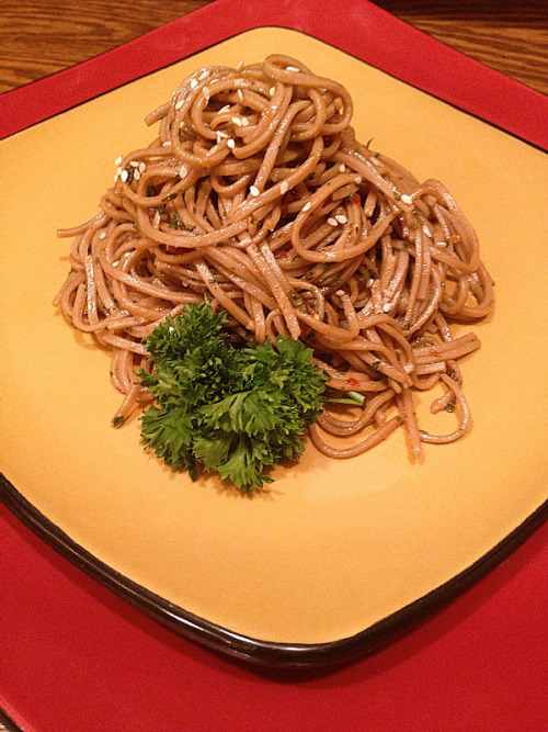 (Click here for recipe Spicy Ginger Soba Noodles )
