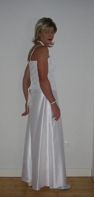 This beautiful bride is Christine, a German crossdresser.