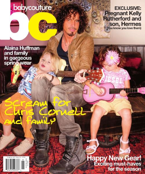 grungebook:  Chris Cornell and kids on the cover of the spring 2009 issue of Baby Couture.