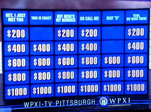 tastefullyoffensive:  Jeopardy, you are drunk.[via]