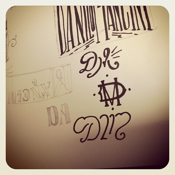 To be continued… #sailordanny #danilomancini #logo #monogram #sketch #news #marker #pencil