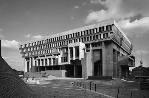 Boston City Hall, Kallmann McKinnell & Knowles, Boston,Massachusetts, 1962 — Ezra Stoller